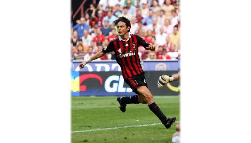 Inzaghi's Milan Signed Match Shirt, Maldini Last Match