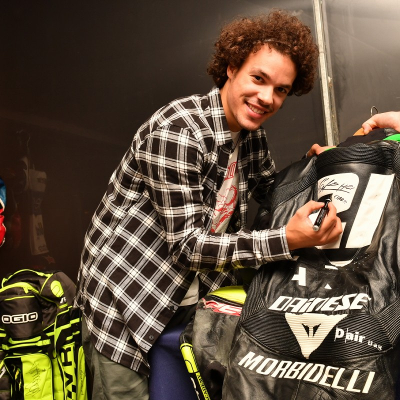 Franco Morbidelli VR46 Academy worn training racesuit - Signed