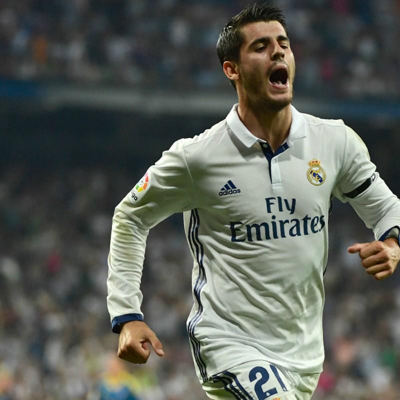 Morata Official Real Madrid Shirt - Signed