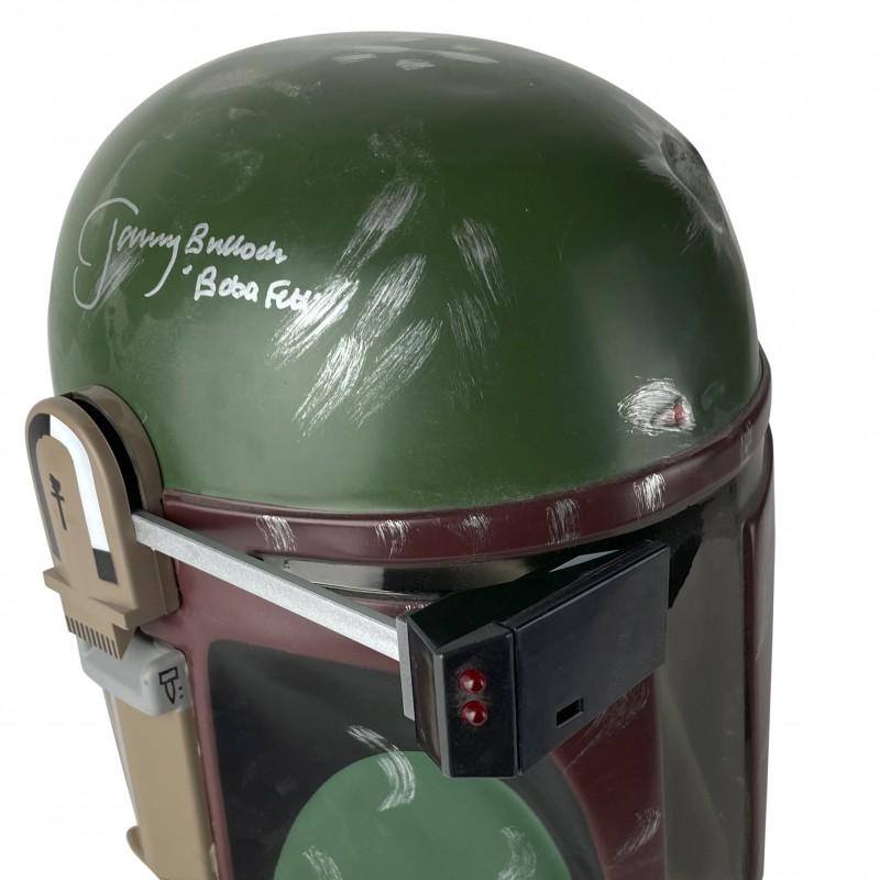 """Jeremy Bulloch Hand Signed Boba Fett """"Star Wars"""" Helmet"""