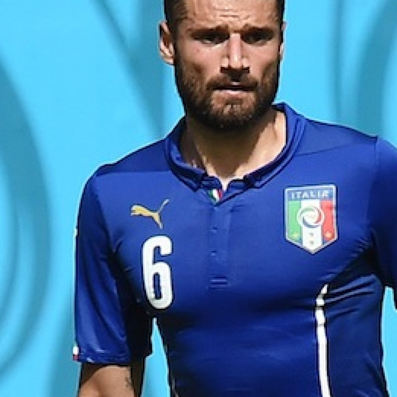 Candreva Italy match issued/worn shirt, Brasil FIFA World Cup 2014