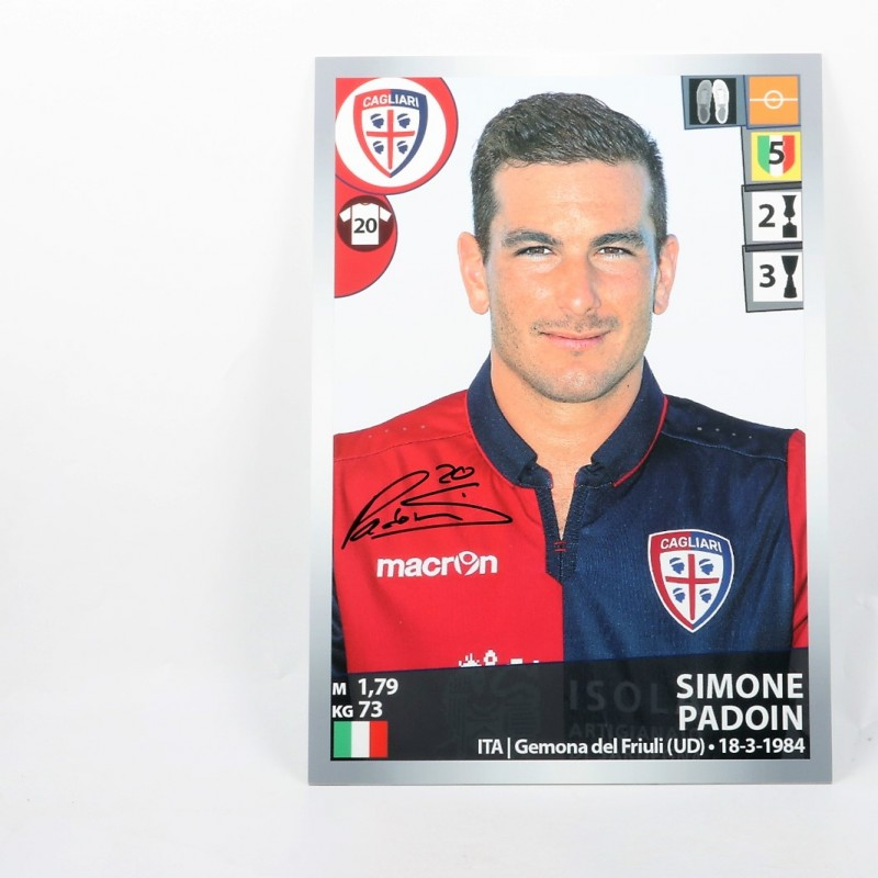 Simone Padoin, Limited Edition Box and Signed Panini Maxi Sticker