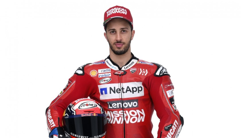 T-Shirt and Cap Signed by Motorbike Racer Andrea Dovizioso