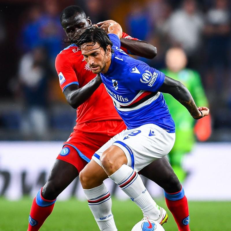 Torregrossa's Worn Shirt, Sampdoria-Napoli 2021 - Special UNHCR
