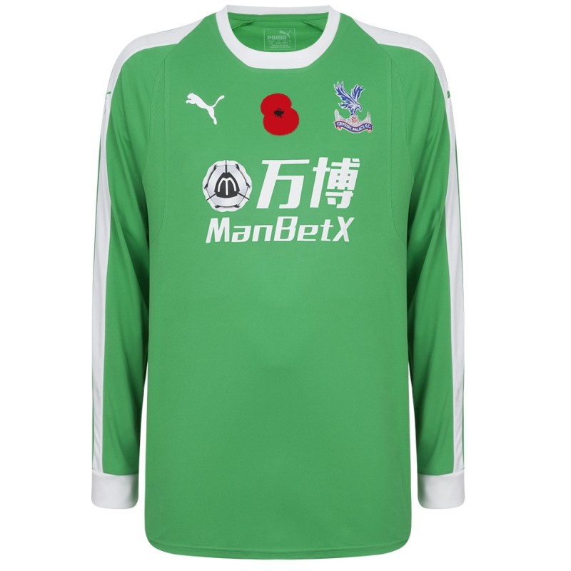 Wayne Hennessey's Crystal Palace F.C. Worn and Signed Home Poppy Shirt