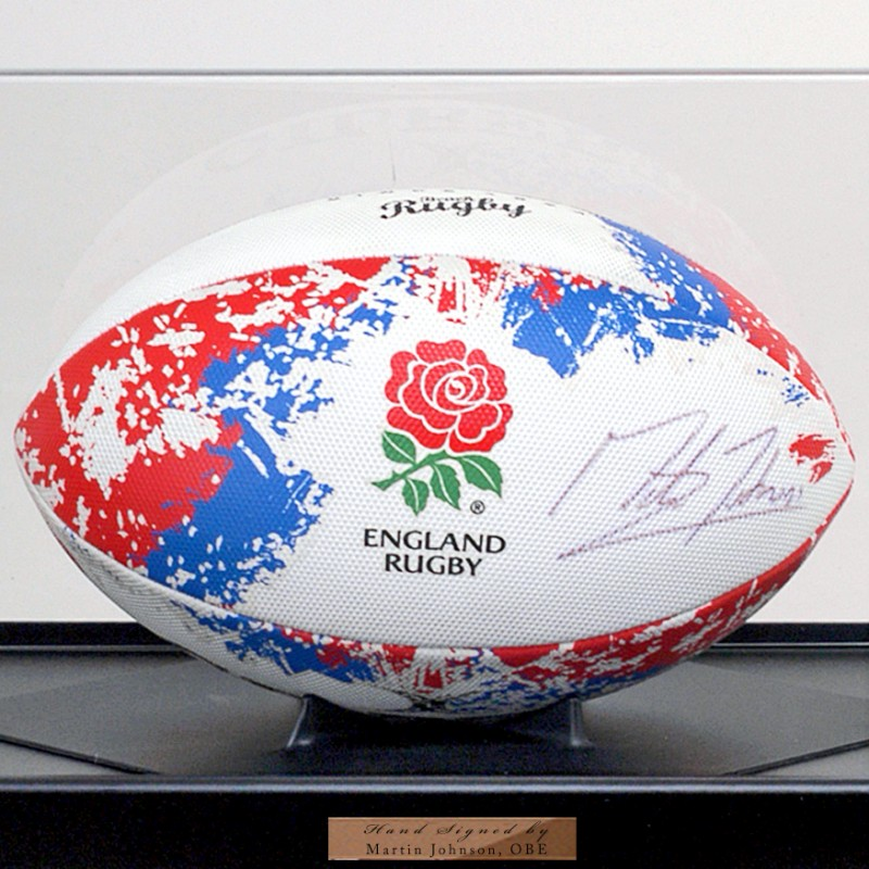 Martin Johnson OBE Hand Signed England Rugby Ball