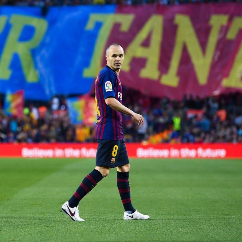Iniesta's Barcelona Match-Issued 'Last Match' Shirt, 2018