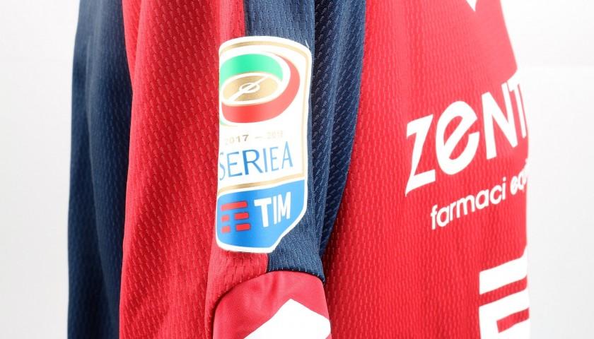 Biraschi's UNWASHED Special Genoa-Sampdoria Bench-Worn Shirt
