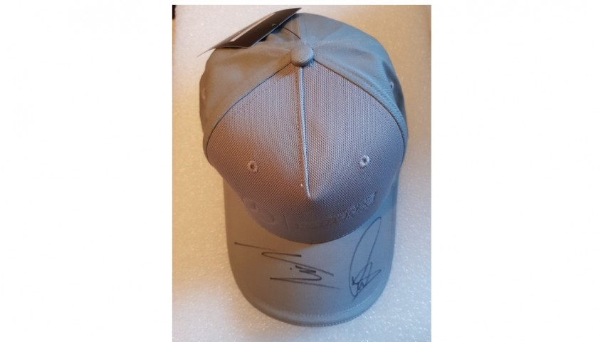 Official Mercedes Cap Signed by Lewis Hamilton and Valtteri Bottas