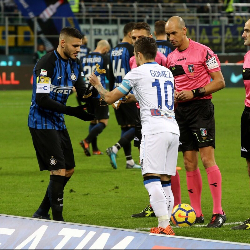 Papu Gomez's Match-Worn Signed Shirt, Inter-Atalanta - UNICEF Patch