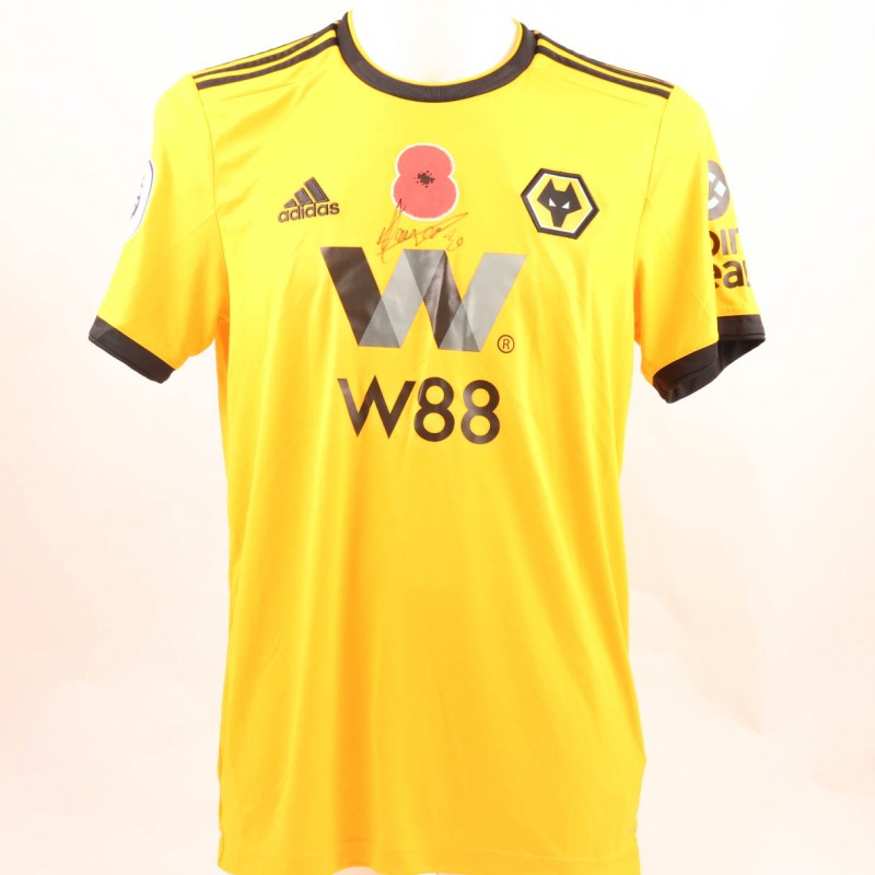 Hause's Wolves FC Issued and Signed Poppy Shirt