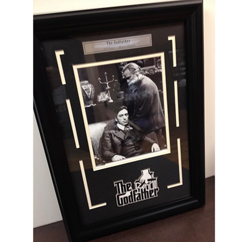 "Framed Marlon Brando and Al Pacino ""The Godfather"" Photo"