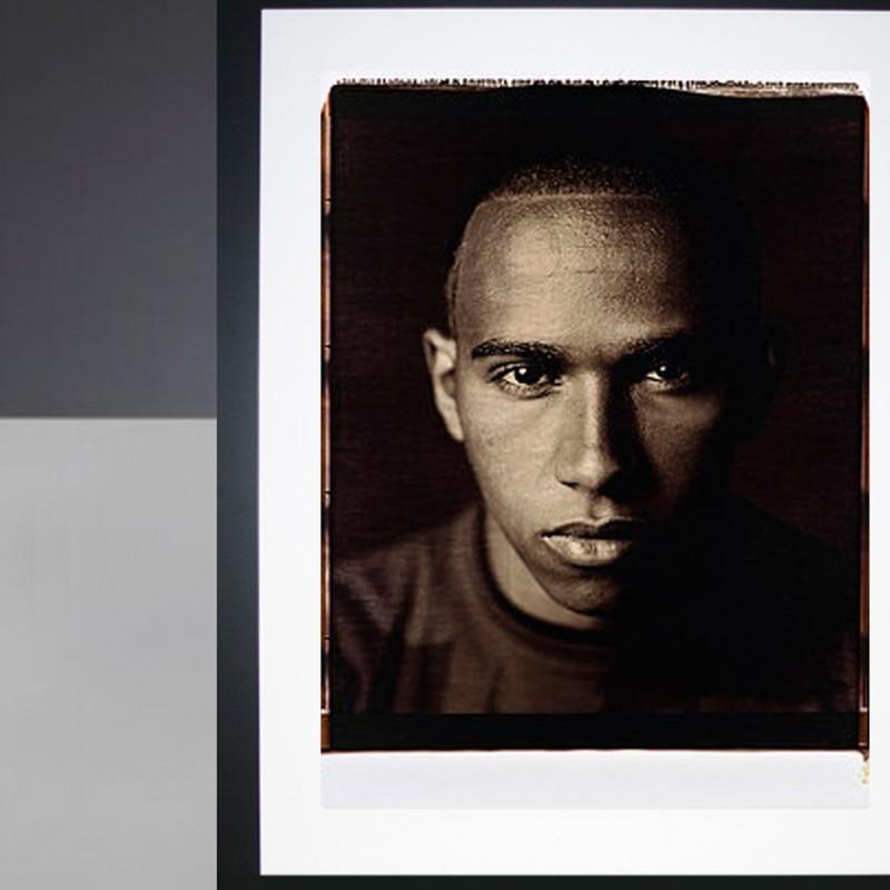 Lewis Hamilton Giant Polaroid Portrait