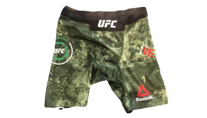 UFC Boxing Shorts Worn and Signed by Marvin Vettori