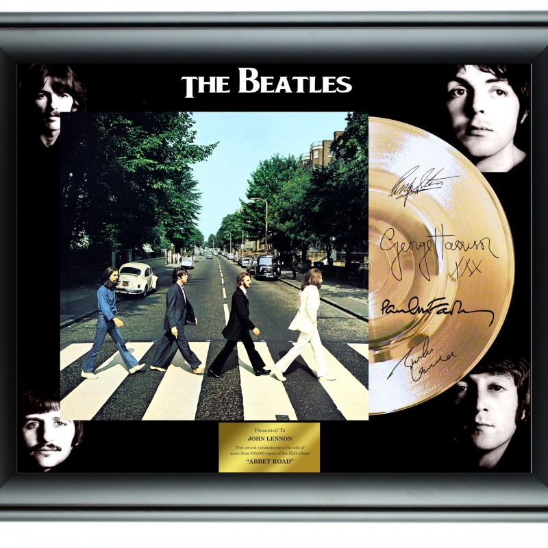 The Beatles Custom Framed Gold Record Display