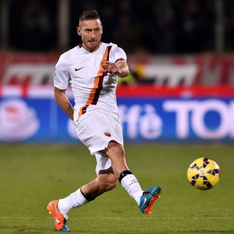 edff2b3ec Totti s Match-Worn Issued 2015 Torino-Roma Shirt
