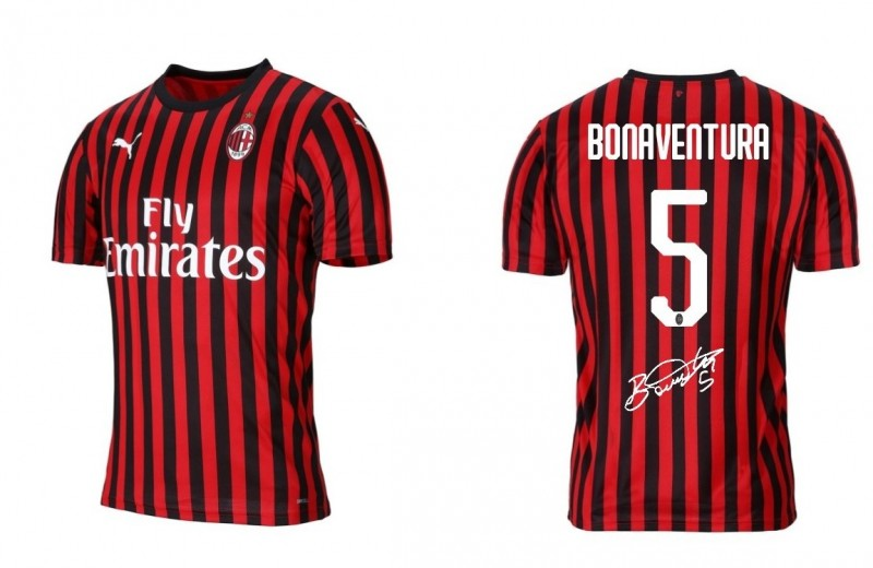 AC Milan 2019/20 Official Shirt Signed by Bonaventura