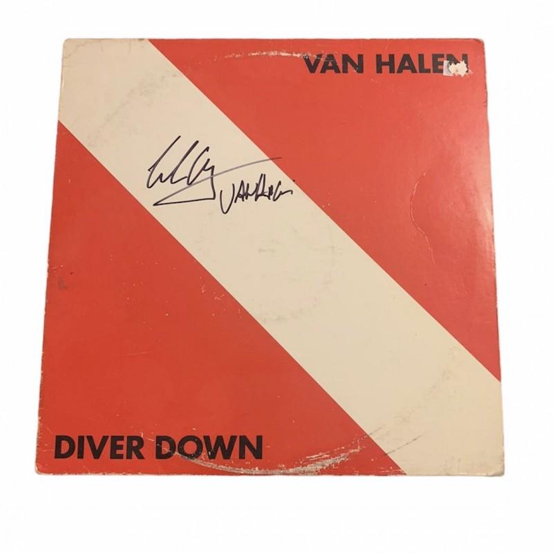 Eddie Van Halen Signed Diver Down Vintage Vinyl LP