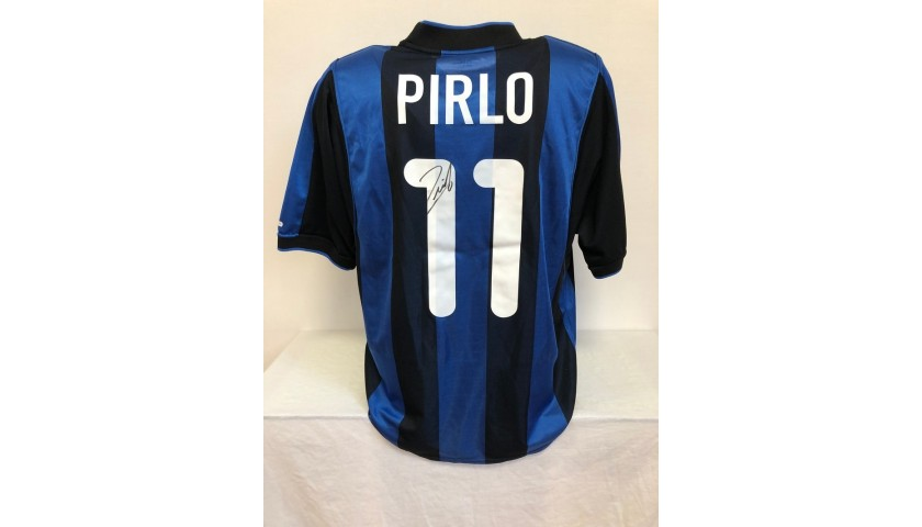 Pirlo's Official Inter Signed Shirt, 2000/01
