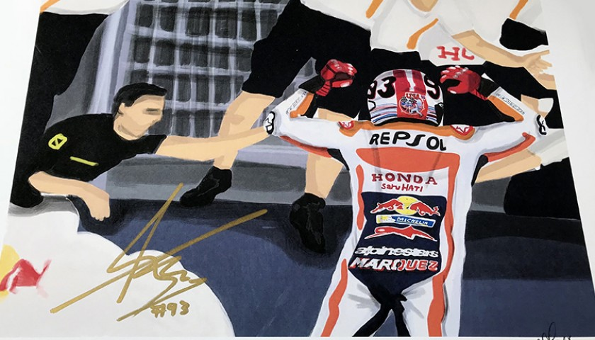 """Marc Marquez: Race 3, Austin"" by Tammy Gorali"