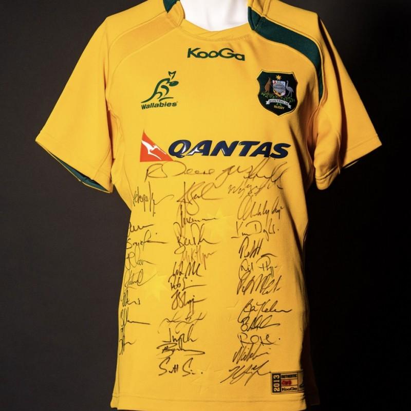 Wallabies 2013 Squad Signed Shirt