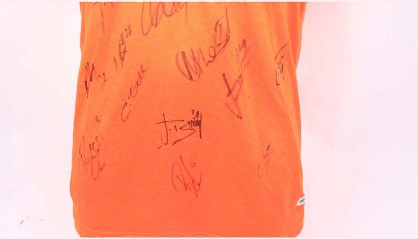 Blackpool Official Poppy Shirt Signed by the Team