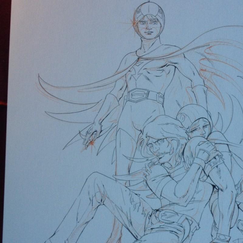 Design printing  preparatory drawing by Tatsuo Yoshida