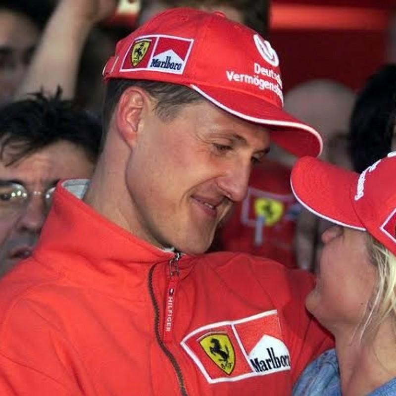 Michael Schumacher Personal SMALL size used MARLBORO Ferrari 2000 Cap