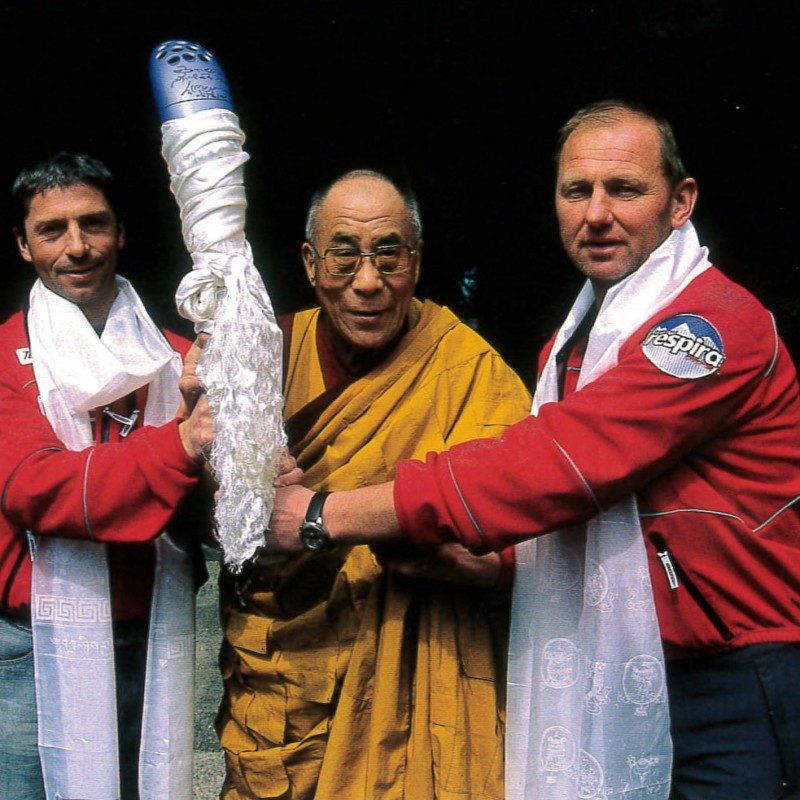Turin 2006 Winter Olympics XX Relay Torch Signed by the Dalai Lama