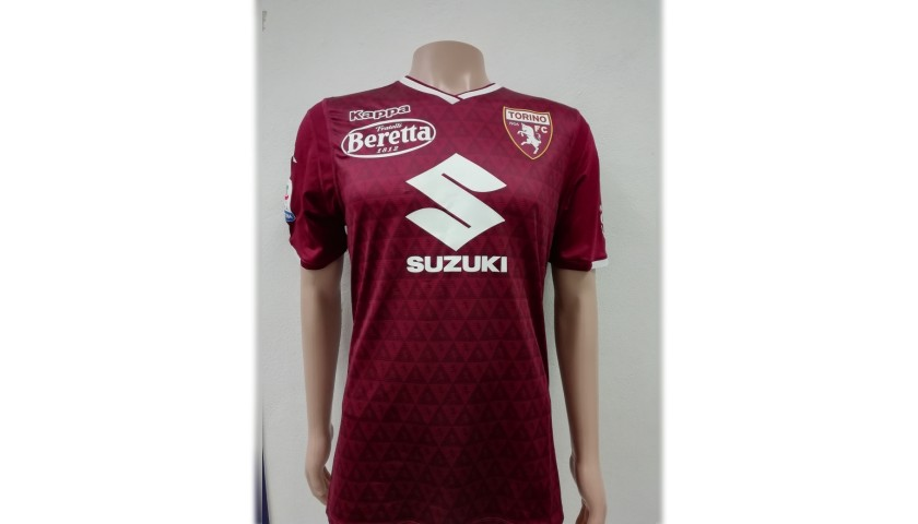 Belotti's Torino Match-Issue Signed Shirt, 2018/19