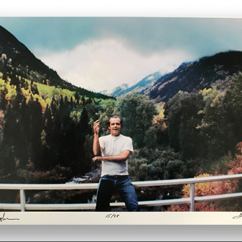 Signed Jack Nicholson Print by Bobby Klein