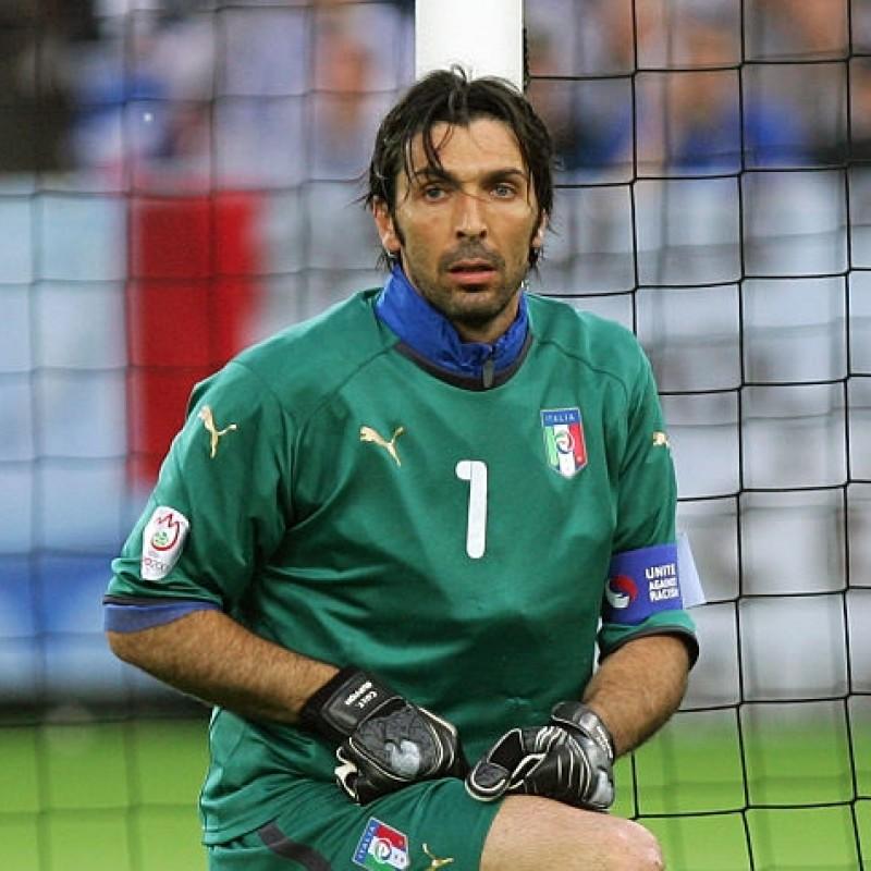 Buffon's Italy Match Signed Shirt, 2007/08