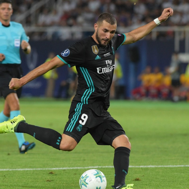 Benzema's Match-Issue/Worn Shirt, UEFA Super Cup 2017