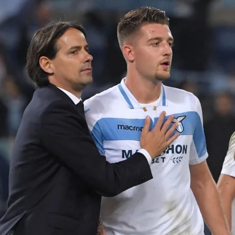 Sergej's Signed Match Shirt, Lazio-Marseille 2018