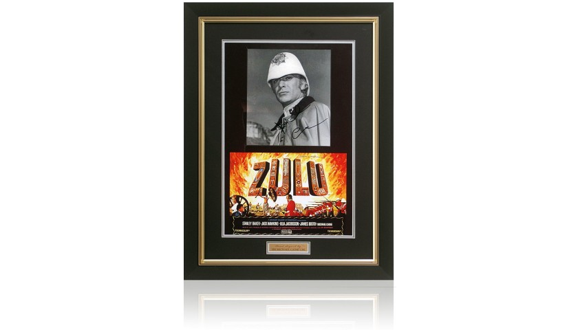 Sir Michael Caine CBE Hand Signed Zulu Movie Presentation