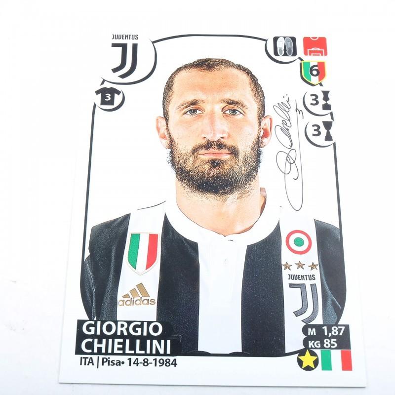 Maxi Figurina Panini Chiellini, Stagione 2017/18 - Autografata