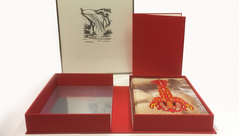Exclusive Jeff Koons Art Edition Book with Signed Print 41/100