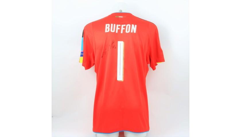 Buffon's Signed Match Shirt, Germany-Italy 2016