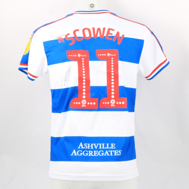 Scowen's Queens Park Rangers Match-Issued Signed Poppy Shirt