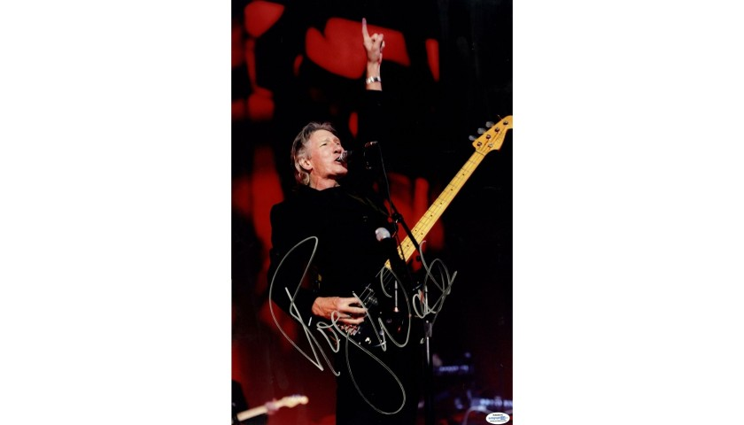 Roger Waters Hand Signed Concert Photo
