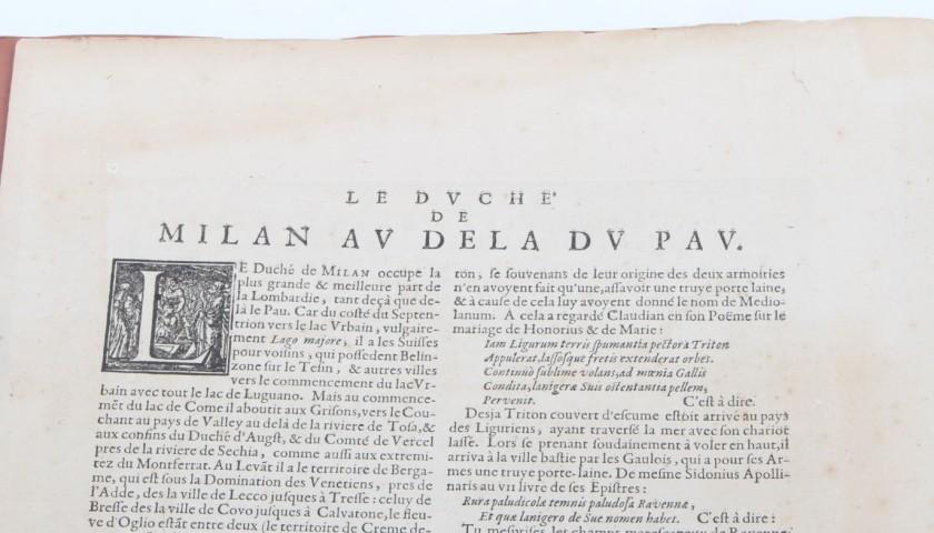 """Etching of 1606 """"Ducato ovvero territorio di Milano"""""""