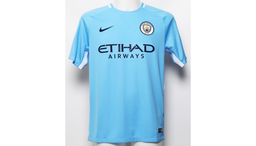Manchester City FC Shirt Signed by Leroy Sane from 2018 - CharityStars 70b97c0b4909