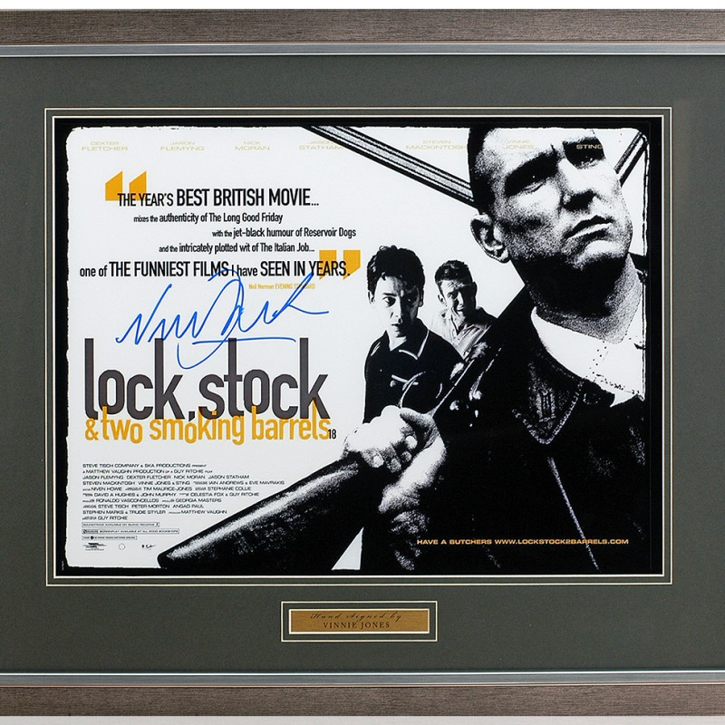 Vinnie Jones Hand Signed 'Lock Stock and Two Smoking Barrels' Movie Poster