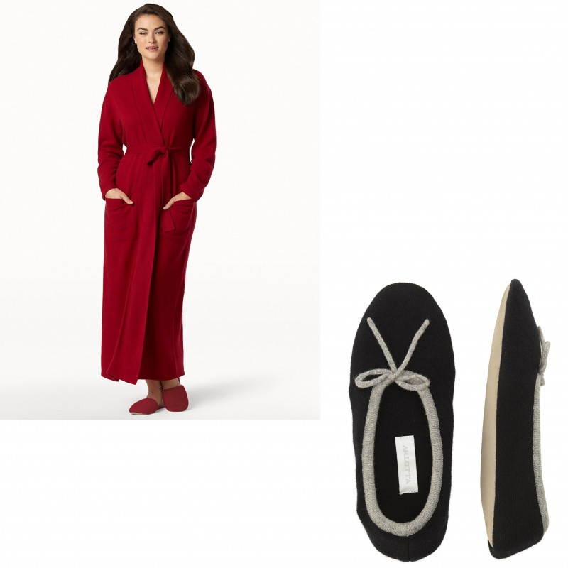 ARLOTTA Cashmere Robe and Slippers