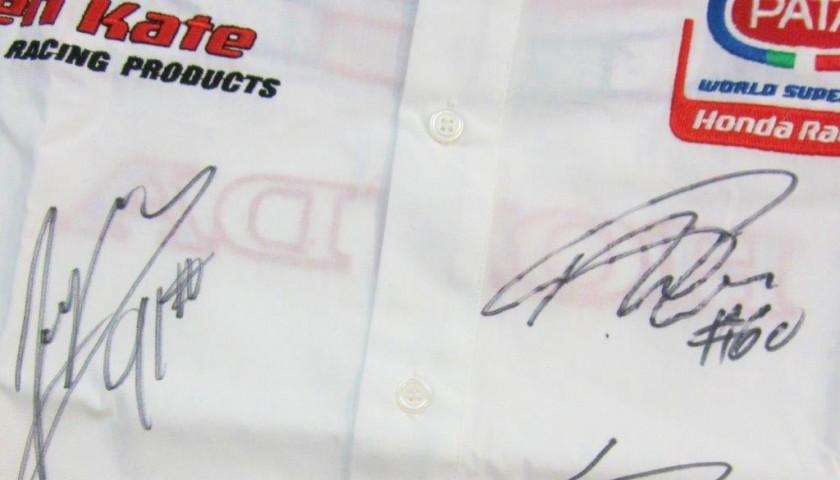 Team Pata Honda SBK Shirt signed by the riders