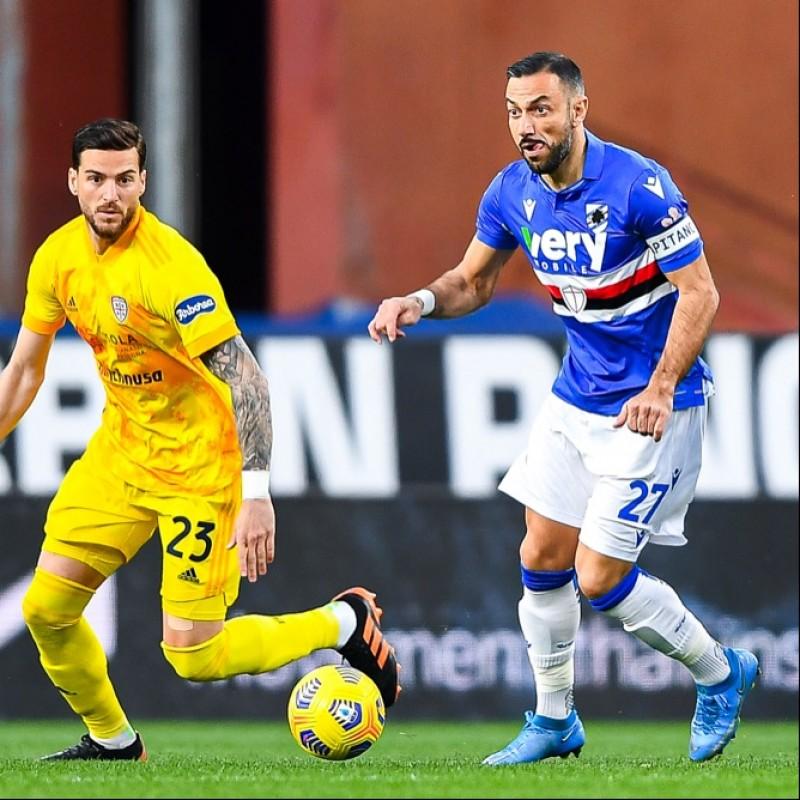 Quagliarella's Worn Shirt, Sampdoria-Cagliari, Special Patch