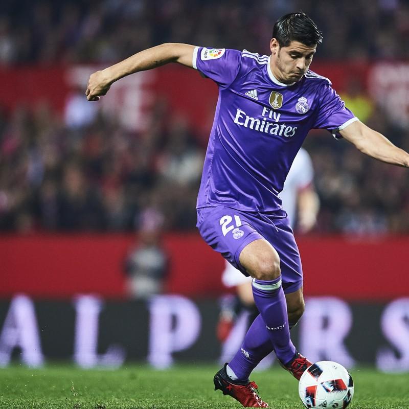 Official Real Madrid Morata Shirt, 2016/17 - Signed