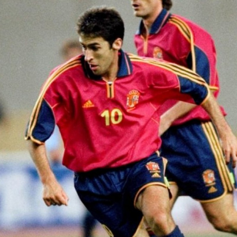 Raul's Official Spain Signed Shirt, Euro 2000