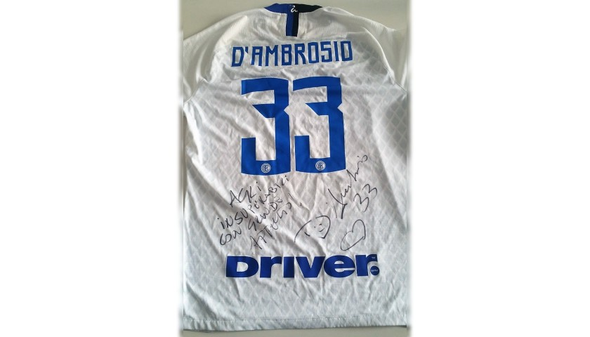 D'Ambrosio's Inter Match-Issue Signed Shirt, 2018/19