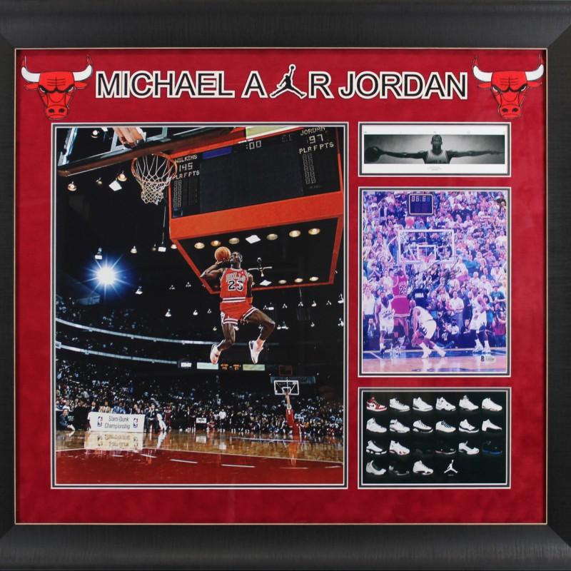 Michael Jordan Signed Framed Display